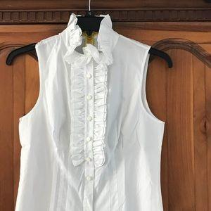Catherine Malandrino White Cotton Blouse